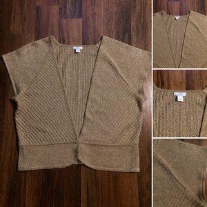 🦋2/$10 or 5/$20 Gold Metallic Knit Cardigan